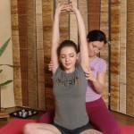 Nude yoga girls sex training