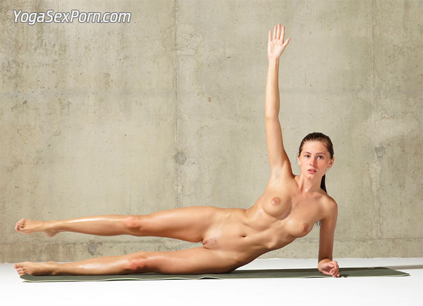 Nude yoga exercises