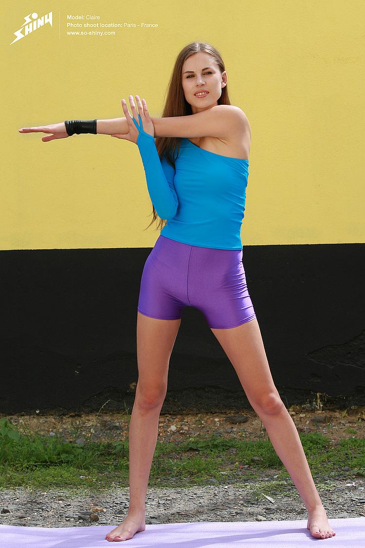 Sexy yoga girls in spandex